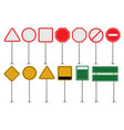 set blank road signs vector image