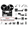 set of 24 music icons vector image vector image
