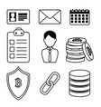 set of block chain tecnology icons vector image