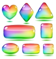 Set of opaque glass shapes vector image vector image