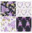 Set of Spring Flowers Backgrounds vector image vector image