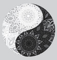 shape of symbol yin yang vector image