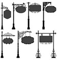 signage sign pole frame street a set of street vector image
