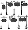 signage sign pole frame street a set street vector image vector image