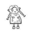 sketch doll icon vector image