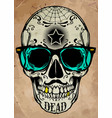 skull a mark of the danger warning t-shirt vector image