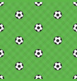 soccer ball samples pattern vector image vector image