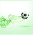 stylish football tournament background with green vector image