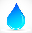 water rain drop icon vector image
