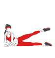 Woman practises pilates- symbolical emblem vector image vector image
