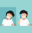 wrong and correct positions for talking via smart vector image vector image