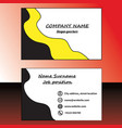 yellow and black business card vector image vector image