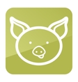 Pig icon Farm animal vector image