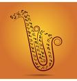 jazz warm background vector image
