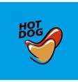 logo hot dog vector image