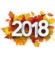 2018 autumn background with orange leaves vector image vector image