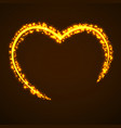 abstract heart of glowing particles vector image vector image