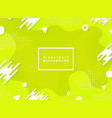 abstract vivid green color design geometric vector image vector image