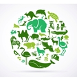 Animal green world - huge collection of icons vector image vector image