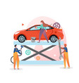auto repair and wash concept for web banner vector image