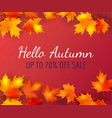 autumn poster background with leaves vector image