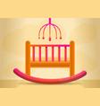 baby crib concept banner cartoon style vector image vector image