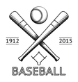 Baseball Logo Symbol Bat Ball Game Field Icon vector image
