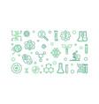 bio-engineering line banner biotechnology vector image vector image