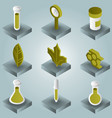 biology color gradient isometric icons vector image vector image