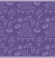 birthday seamless pattern cute greeting vector image vector image