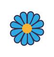 blue flower flat vector image