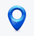 blue map pin pointer modern and clean design vector image