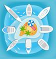 boats and yachts vector image vector image