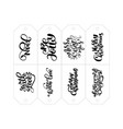 calligraphy set of phrases for tags vector image vector image