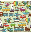 cartoon transport pattern vector image vector image