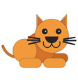 cat in a flat style vector image vector image