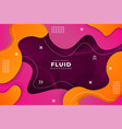 colorful abstract dynamic pink and yellow fluid vector image vector image