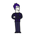 comic cartoon vampire vector image