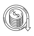 cost icon doodle hand drawn or outline icon style vector image