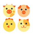 farm animal cartoon set vector image