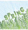 Floral nature pattern card spring vector image vector image