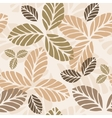 Floral seamless pattern with autumn leaves vector image vector image