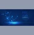 freestyle ski man figure jumping sport blue neon vector image vector image