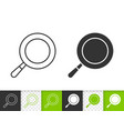 frying pan simple black line icon vector image vector image