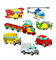 Funny vehicles vector image vector image