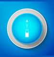 glass bottle with a pipette icon isolated vector image