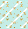 gold snowflake christmas background vector image vector image
