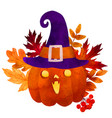 halloween hand drawn watercolor art vector image