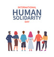 human solidarity day global equality people vector image