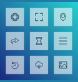 interface icons line style set with deadline vector image